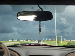 Crazy storms we had to escape on the way back!